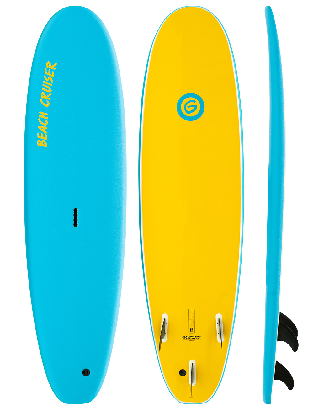 Gnaraloo Beach Cruiser Softboard Blue-Yellow