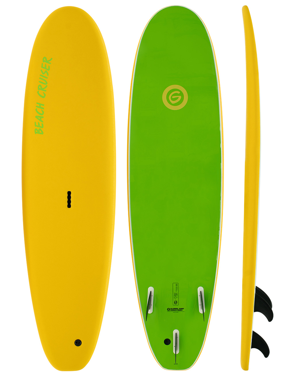 Gnaraloo Beach Cruiser Softboard Yellow-Lime