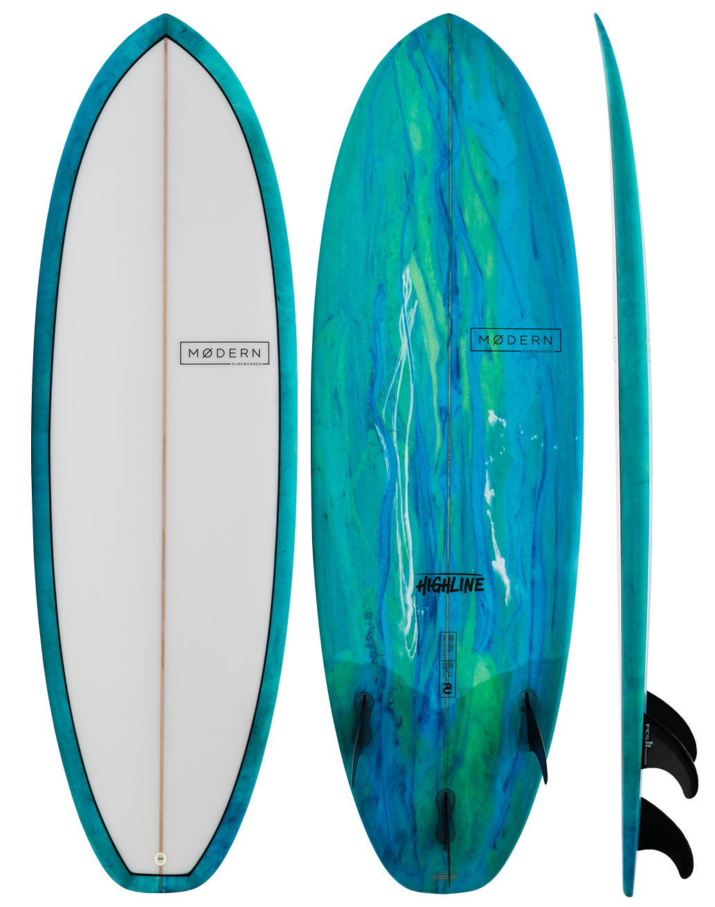 Modern Highline PU Shortboard - Sea