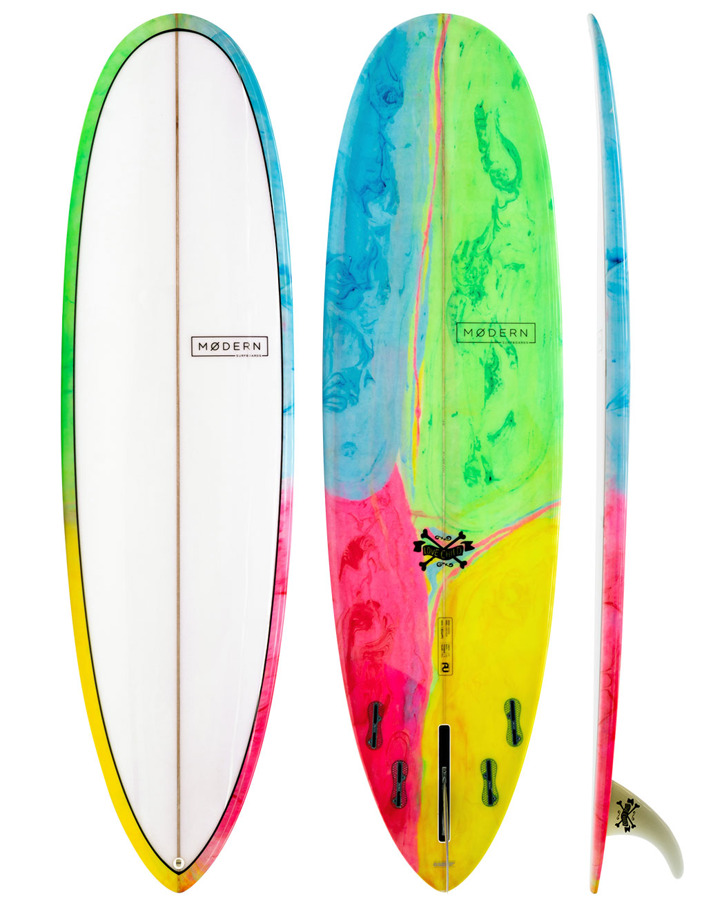 Modern Love Child Poly Mid-Length Surfboard Psychedelic