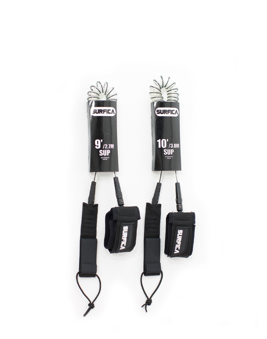 Surfica SUP Leash Coiled