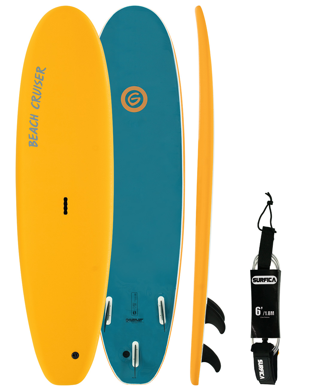 Gnaraloo Beach Cruiser Leash Combo