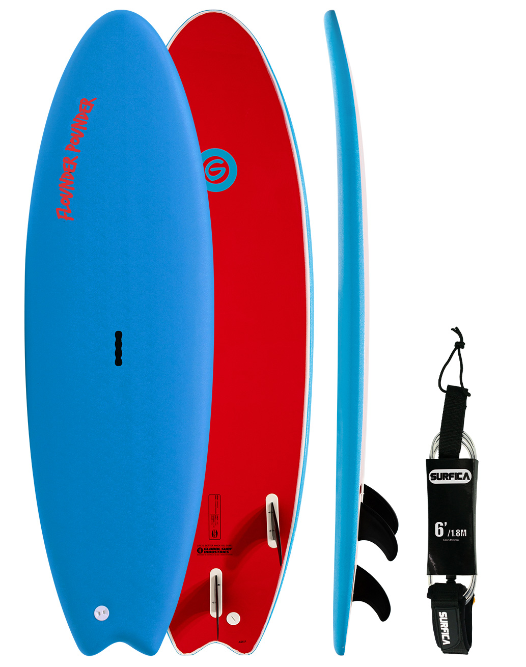 Gnaraloo Flounder Pounder & Surfica Leash Bundle